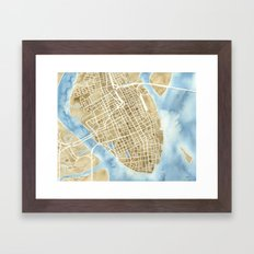 Charleston, South Carolina City Map Art Print Framed Art Print