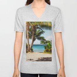 Ocean Travel Tropical Beach Unisex V-Neck