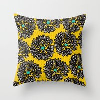 indigo Throw Pillows featuring Indigo by Simi Design