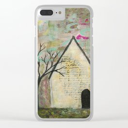 Little house of words Clear iPhone Case