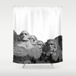 Mount Rushmore National Memorial South Dakota Presidents Faces Graphic Design Illustration Shower Curtain