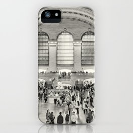 Grand Central Terminal monochrome iPhone Case