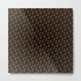 Dark Paisley Passion Metal Print