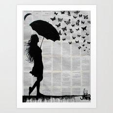 butterfly rain Art Print