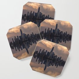 NYC skyline reflection Coaster