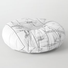 Death by Shakespeare Floor Pillow