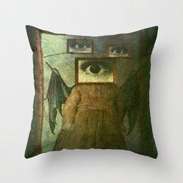 Bat Girl Throw Pillow