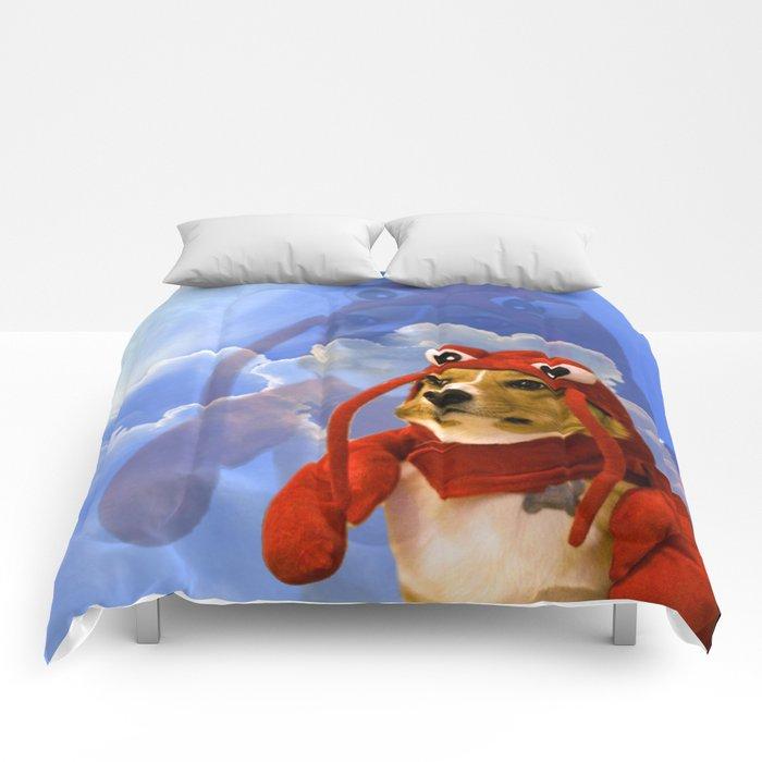 Lobster Corgi Comforters