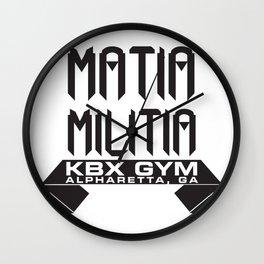 Matia Militia Wall Clock
