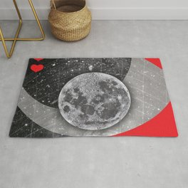 Love Quote Retro Vintage Nude Woman Full Moon Love is the drug Rock Music Song Lyrics Rug
