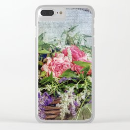 Floral Basket Clear iPhone Case