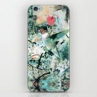 hummingbird iPhone & iPod Skins featuring Hummingbird by RIZA PEKER