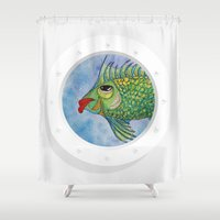 hook Shower Curtains featuring Capitan Hook by Caribbean Critters Co.