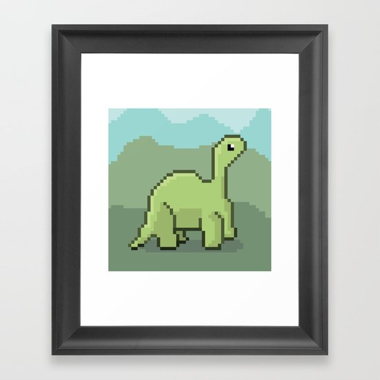 Another Pixel Dino! Framed Art Print