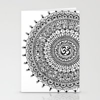 ohm Stationery Cards featuring Ohm Mandala by Sarah Ottino