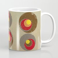 blankets Mugs featuring Tendency by Metron