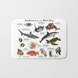 Animals of the Red Sea Bath Mat