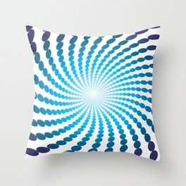 BLUE DOTS ON A WHITE BACKGROUNDAbstract Art Throw Pillow