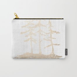 Three Sisters Forest White Gold Trees Carry-All Pouch