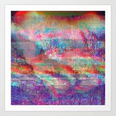 23-18-45 (Acid Rain Bed Glitch) Art Print