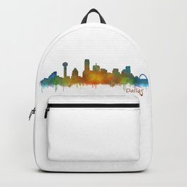 Dallas Texas City Skyline watercolor v02 Backpack