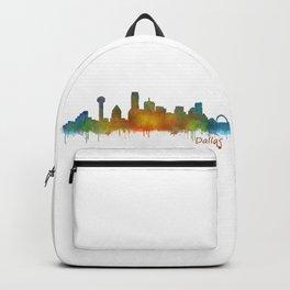 Dallas Texas City Skyline watercolor v02 Backpack