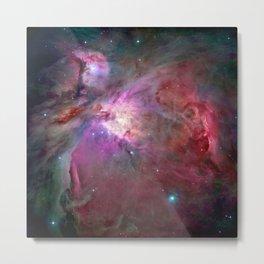 Galaxy, Nebula Mist, Crimson Red Metal Print