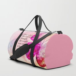 Became A Butterfly Motivational Quote Duffle Bag