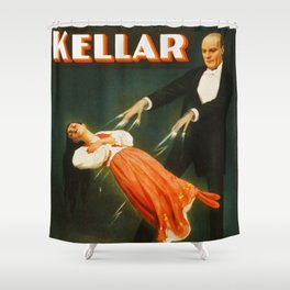 Vintage Kellar Magician - Levitation Shower Curtain