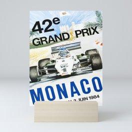 poster monaco 42e grand prix 1984 Mini Art Print