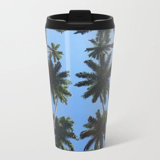 California Palm Trees Metal Travel Mug