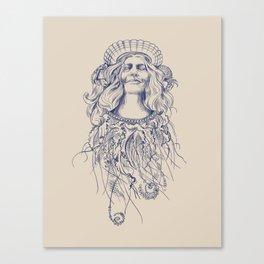 Sea Posse V - Queen, Navy Print Canvas Print