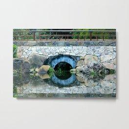 Round Reflection  Metal Print