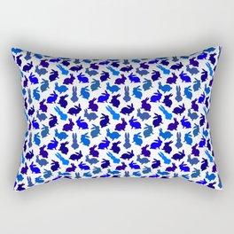 Bunnies Galore in Blues Rectangular Pillow