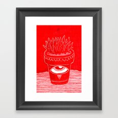 suculenta espacial Framed Art Print