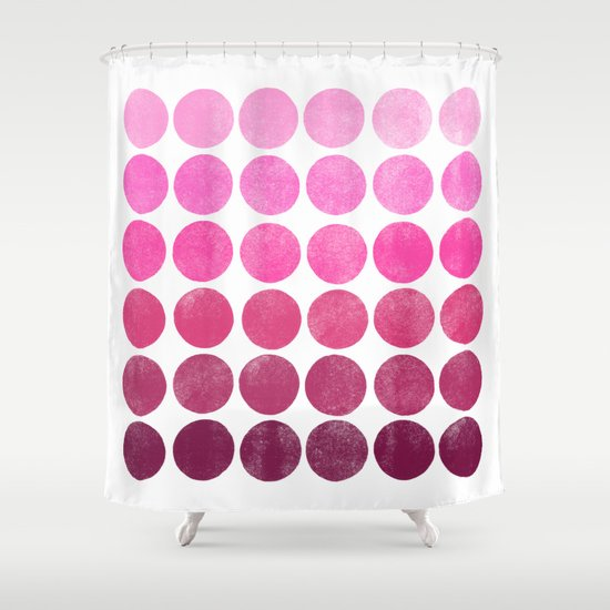 Color Play Pink Shower Curtain