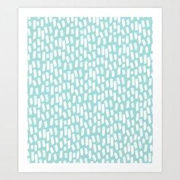 Paint Strokes | Ocean Blue Art Print
