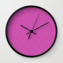 grid pattern 7 Wall Clock