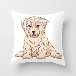 Canis Minor Throw Pillow