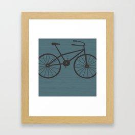 Grey Bike by Friztin Framed Art Print