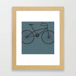 Grey Bike by Friztin Framed Art Print