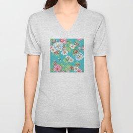 Vintage Floral Pattern No. 3 Unisex V-Neck