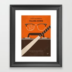 No768 My Falling Down minimal movie poster Framed Art Print