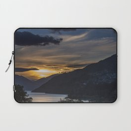 Sunset on Queenstown and Lake Wakatipu Laptop Sleeve