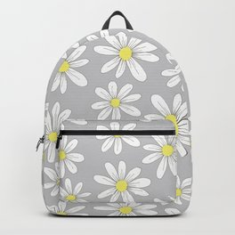 simple daisies on gray Backpack