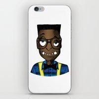 nerd iPhone & iPod Skins featuring Nerd by DeMoose_Art