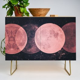 Pink Moon Phases Credenza