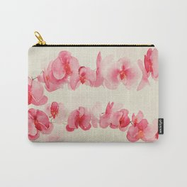Watercolor Orchids Carry-All Pouch