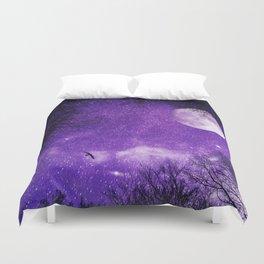 Nightscape in Ultra Violet Duvet Cover