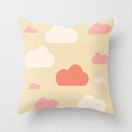 Cloud pink Throw Pillow